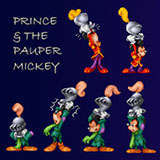 Mickey_Prince_and_Pauper Pixel by Snugbat Illustration