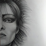 Siouxsie_Sioux_(Pencil) Portraits by Snugbat Illustration